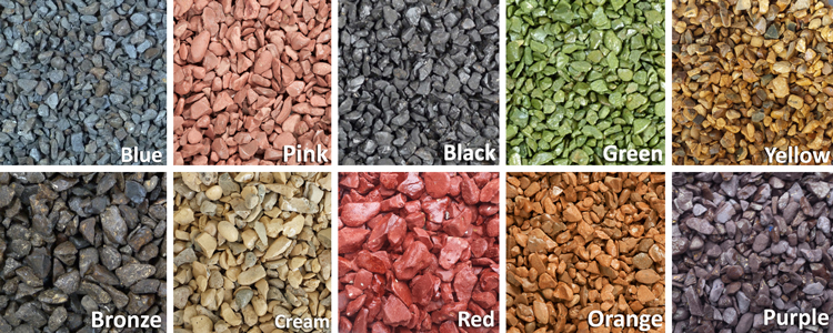 Coloured Stones For Gardens Kolour stone product infomation colours and three sizes of stone as shown below making this an extremely versatile product that can be used to transform anything in your garden from a workwithnaturefo